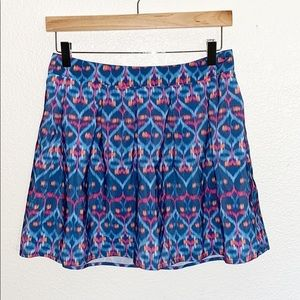 Bethany Mota Patterned Blue And Pink Mini Skirt